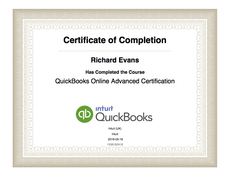 QuickBooks Online Advanced Certification